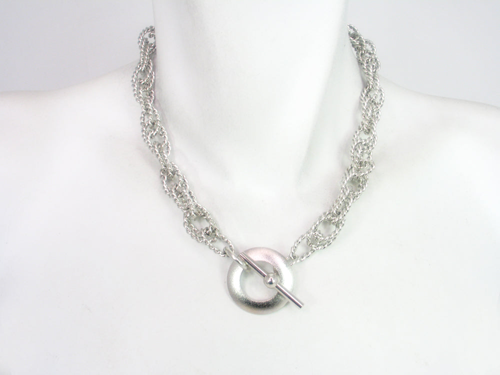 Rhodium Chain Necklace