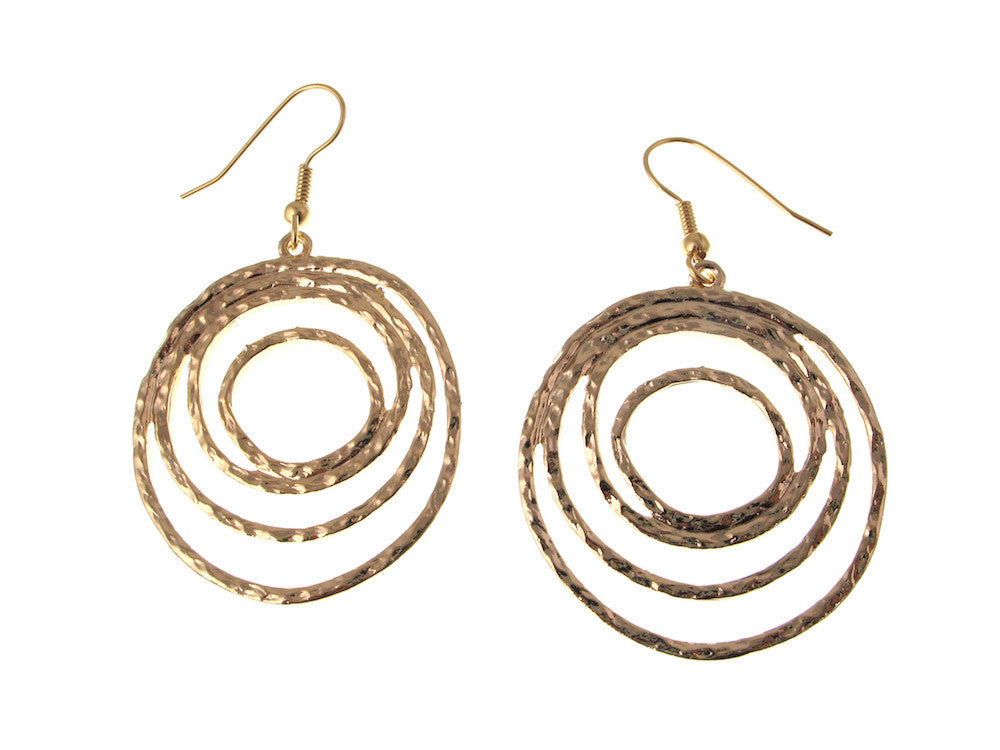 Multi Circle Metal Earrings - Erica Zap Designs