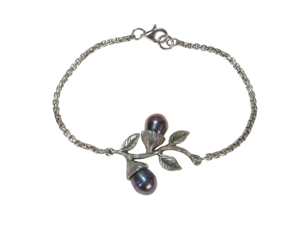 Sterling Chain Bracelet with Budding Branch | Erica Zap Designs