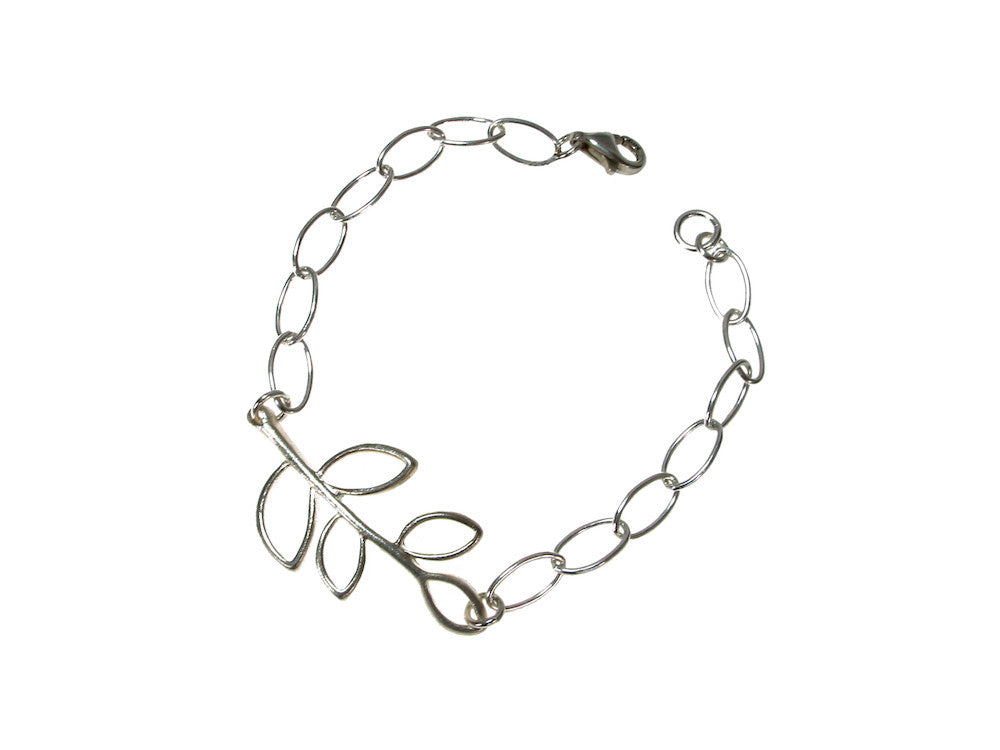 Sterling Branch & Open Chain Bracelet | Erica Zap Designs