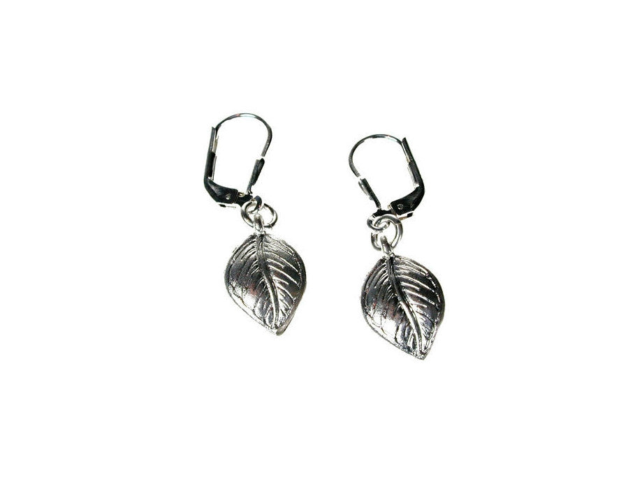 Sterling Leaf Earrings | Erica Zap Designs