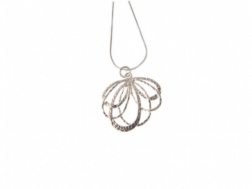 Falling Loops Sterling Pendant Necklace - Erica Zap Designs