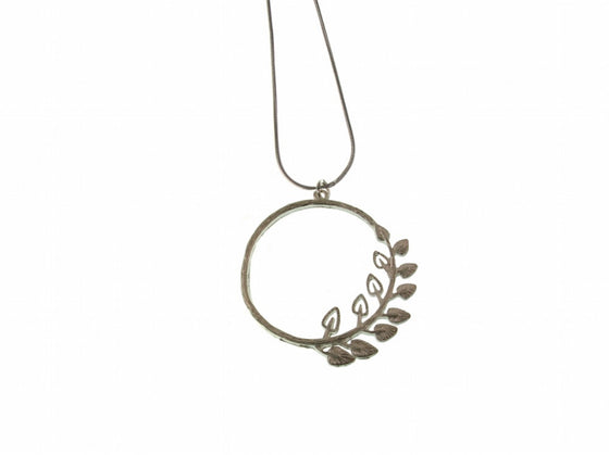 Circle Leaf Pendant - Erica Zap Designs