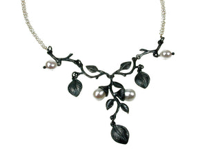 Sterling Branch & Pearl Necklace | Erica Zap Designs