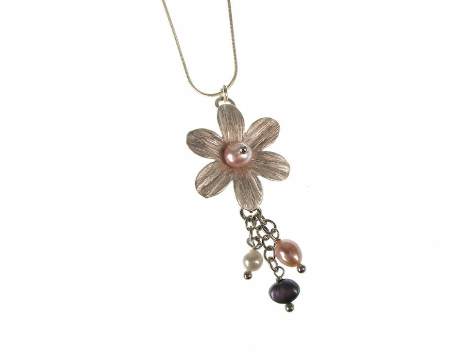 Pearl Flower Drop Pendant | Erica Zap Designs