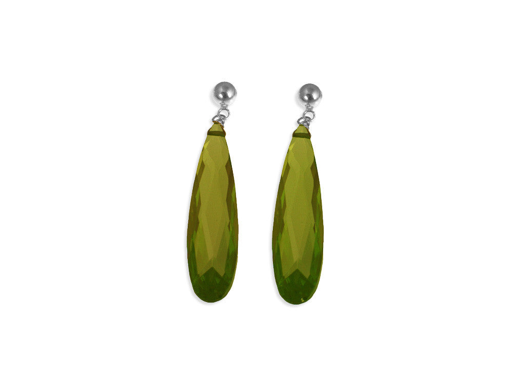 Crystal Drop Earrings, 2"