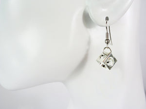 Small Open Cube Earrings | Erica Zap Designs