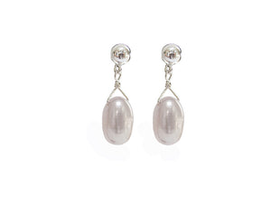 Simple Pearl Drop Earrings | Erica Zap Designs