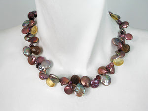Coin Pearl & Stone Necklace | Erica Zap Designs