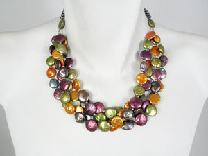 4-Strand Coin Pearl Necklace | Erica Zap Designs