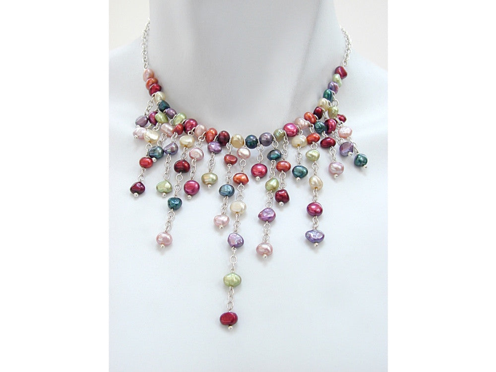 Waterfall Pearl Necklace - Erica Zap Designs