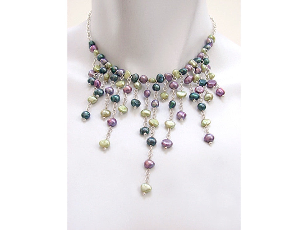 Waterfall Pearl Necklace