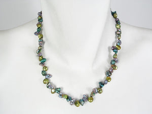 Multi Color Keshi Pearl Necklace | Erica Zap Designs