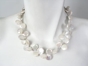 Coin Pearl Necklace | Erica Zap Designs