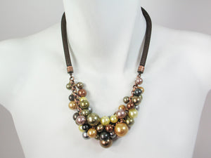 Faux Pearl Bubble Necklace - Erica Zap Designs