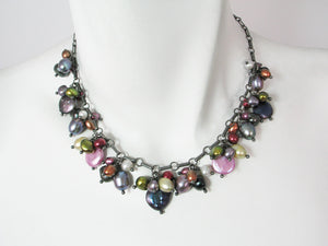 Coin Pearl Cluster Necklace | Erica Zap Designs