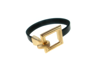 Flat Leather Bracelet | Square Hook Clasp | Erica Zap Designs