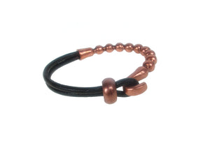 Cord Leather Bracelet | Beaded Hook and Slide | Erica Zap Designs