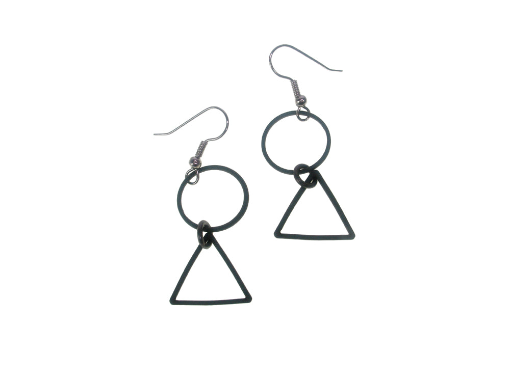 Circle and Triangle Earrings
