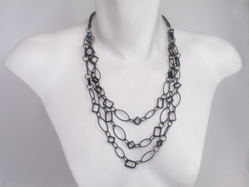 3 Strand Geometric Necklace