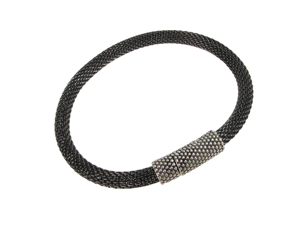 Mesh Bracelet with Textured Magnetic Clasp - Erica Zap Designs