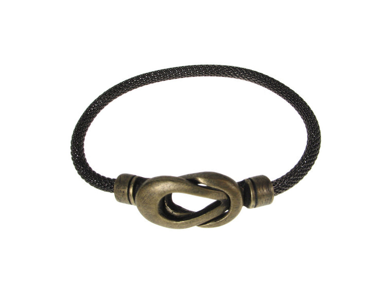 Mesh Bracelet with Infinity Loop Magnetic Clasp