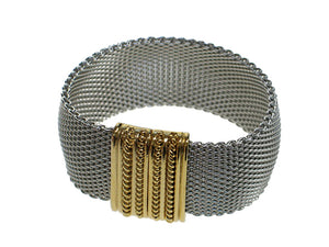 Domed Mesh Bracelet with Textured Magnetic Clasp - Erica Zap Designs