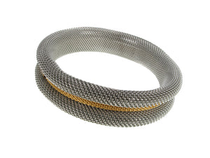 Rolled Mesh Bracelet With Insert Accent | Erica Zap Designs