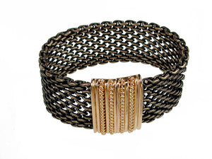 Mesh Bracelet Solid Open Weave with Magnetic Clasp | Erica Zap Designs