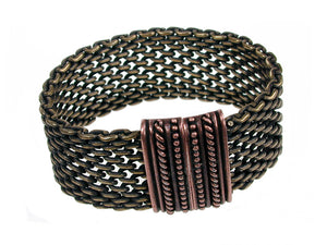 Mesh Bracelet Solid Open Weave with Magnetic Clasp - Erica Zap Designs