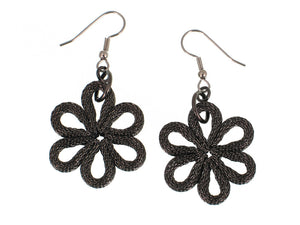Flower Mesh Drop Earrings | Erica Zap Designs