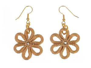 Flower Mesh Drop Earrings - Erica Zap Designs