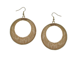 Large Circle Mesh Earrings | Erica Zap Designs