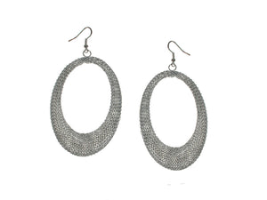 Large Oval Mesh Earrings | Erica Zap Designs