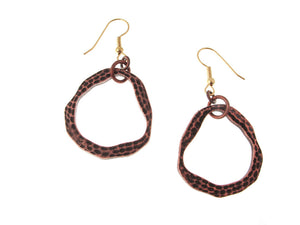 Hammered Circle Earrings | Erica Zap Designs