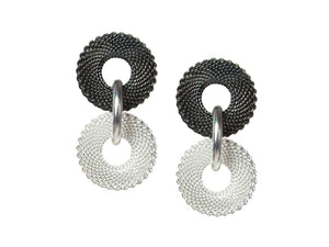 Double Ring Mesh Earrings | Erica Zap Designs