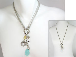 2-Way Mesh & Stone Pendant Necklace | Erica Zap Designs