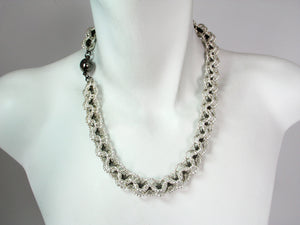 Twisted Chain and Mesh Necklace | Erica Zap Designs