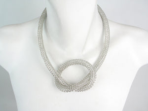 Wire Knit Mesh Necklace with Knot | Erica Zap Designs