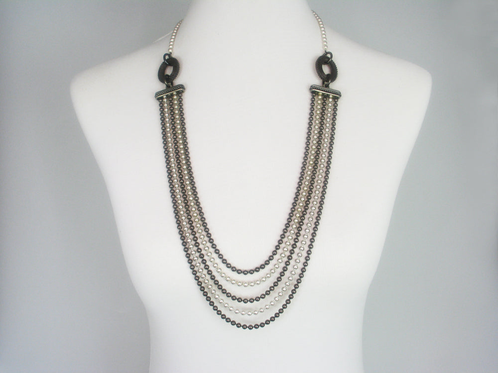 Graduated Bead Chain Necklace