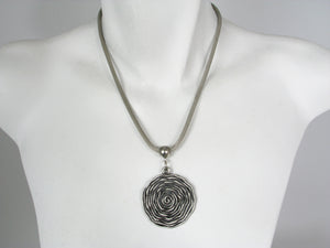 Pewter Spiral Pendant Necklace | Erica Zap Designs