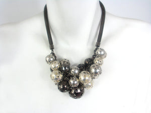 Perforated Ball Cluster Necklace | Erica Zap Designs