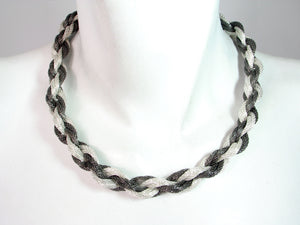 Braided Mesh Necklace with Mesh Toggle | Erica Zap Designs