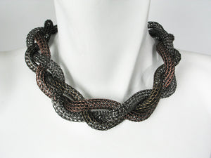 Large Braided Mesh Necklace | Erica Zap Designs