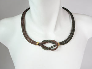 Two Tone Knot Mesh Necklace | Erica Zap Designs