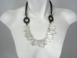 Crystal and Mesh Necklace