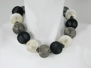 Mesh Necklace with All-Around Large Mesh Beads | Erica Zap Designs
