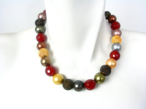 Carnelian and Mesh Necklace