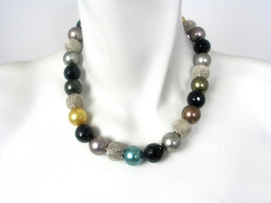 Onyx and Mesh Necklace