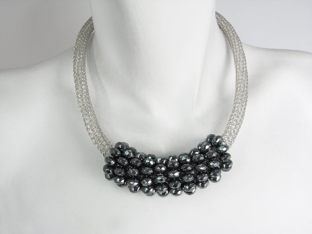 Wire Knit and Stone Mesh Necklace | Erica Zap Designs